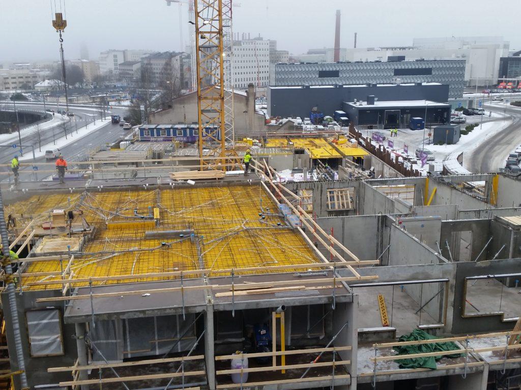 KOy Kalevantie 16 asuinkerrostalo ja paikoitushalli työmaavalvonta tilaaja FIM Kiinteistörahasto