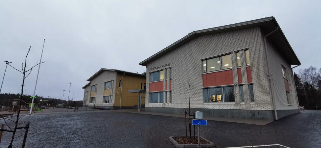 Kurittulan koulu, Masku, rakennuttaminen ja valvonta, tilaaja Maskun kunta
